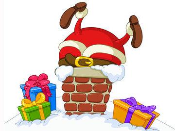 Чтобы Дед Мороз не застрял в камине...