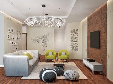 Как оформить дизайн ТВ-зоны в квартире?