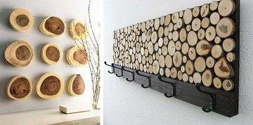 Что можно сделать из дерева, или Оригинальные элементы декора для интерьера