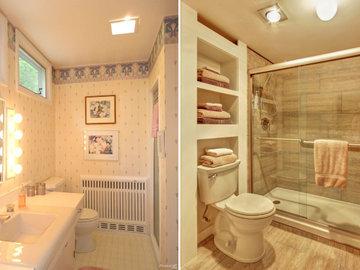 Еще пять бюджетных вариантов переоборудования ванной комнаты