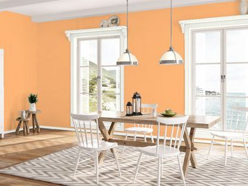 Персиковый цвет в интерьере. Разбираемся в 30 оттенках персикового