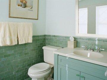 В какой цвет красить маленькую ванную