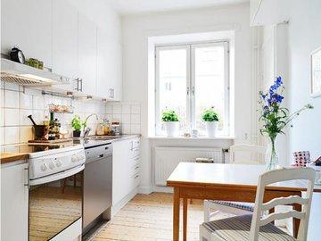 Как маленькую кухню сделать светлой и просторной