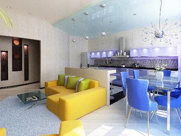 Дизайн квартиры-студии: четыре варианта зонирования