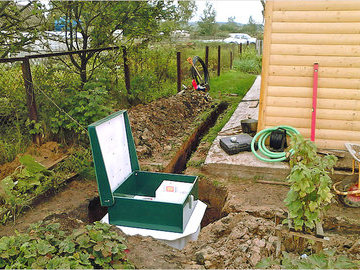 Самостоятельная установка канализации на даче
